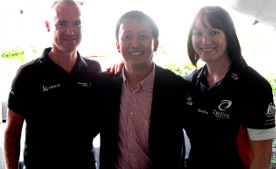 Champion Cyclists Anna Meares, Stuart O'Grady with director Jack Zhang